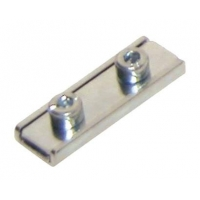Clamp plate with double screw