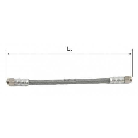 Durit frein universel (8 mm) en acier inoxydable + PVC