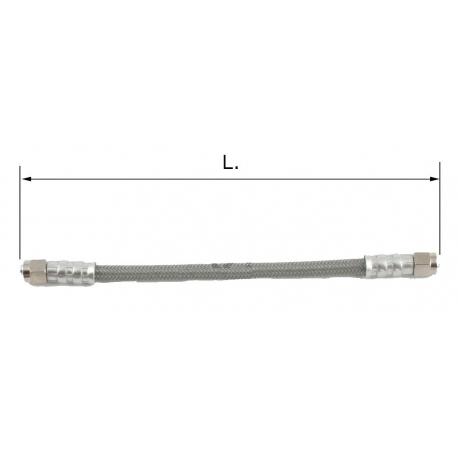 Tubo freno universale (8mm) Inox + Pvc, MONDOKART