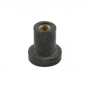 Tappo a pressione D 12,5mm M6 in gomma, MONDOKART, Accessori