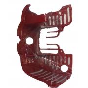 Protection métallique rouge BlueBird Birel Easykart 50cc