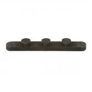 Key with 3 Pegs (D 7,5 - I 15 - H 4,0), MONDOKART, Axle Keys