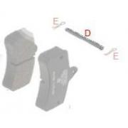 Safety brake pad Pin BSM - BS2 OTK TonyKart, MONDOKART