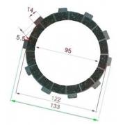 Disco frizione guarnito TM (KV92, KV95, K7), MONDOKART