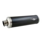 Silenziatore scarico corto MC Virex S1 fibra di carbonio KZ