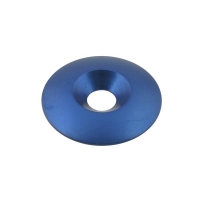 Kit 10 countersunk washers M8 aluminum (34 x 8 mm) BLUE