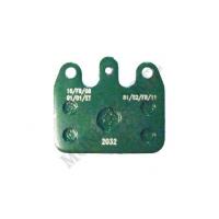Kit 2 GREEN Duralcan pads V05 rear CRG