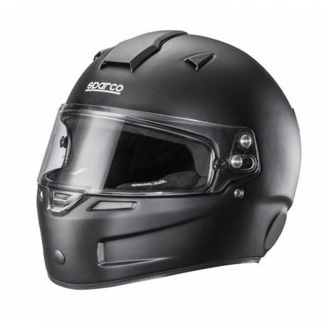 Sparco Helmet Fiberglass KF-5W (white or black), mondokart