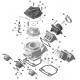 Rubber flange carburetor Rotax 42,5mm, mondokart, kart, kart