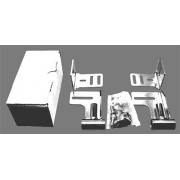 Kit attacco spoiler posteriore minikart KG, MONDOKART