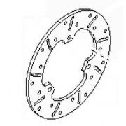 Brake Disc Rear 80x166x5 RI25 BirelArt, MONDOKART