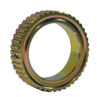 Toothed water pump pulley (50mm) Gold