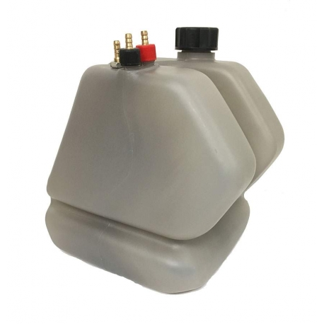 Tank SILVER FUME' GREY LT. 8.5 KZ complete CRG, mondokart