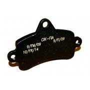 Brake pad Top Kart Mini - Baby BLACK, MONDOKART, Braking system