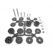 Seat fixing Kit screws washers, MONDOKART, Seats Easykart 125cc