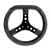 Volante scamosciato nero (320 mm) standard, MONDOKART, Volanti