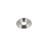 Countersunk washer Biconical 6mm silver countertop