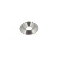 Rondella biconica svasata 6mm argento bancalina