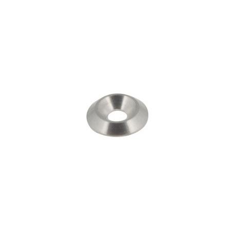 Countersunk washer Biconical 6mm silver countertop, mondokart