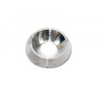 Rondelle biconique AL 8 mm argent