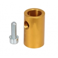 Anodized aluminum Support for seat and muffler