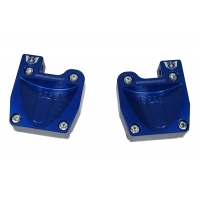 Couple footrest anodized with fitting pedals M8