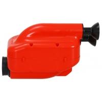 Luftfilter NOX 2 ! Einlass Schalldämpfer 23mm Filter Schwarz Rot