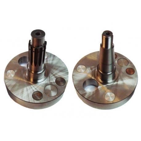 Medio Cigüeñal Par (eje del motor) 7 agujeros 20mm ESPECIAL TM