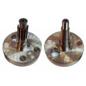 Paar Halbwellen (Motorwelle) 7 LÖCHERN SPECIAL TM 20mm