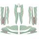 Designkit TonyKart OTK for M6 M7 fairings, MONDOKART, kart, go