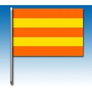 Bandera rayas amarillas y rojas, MONDOKART, kart, go kart