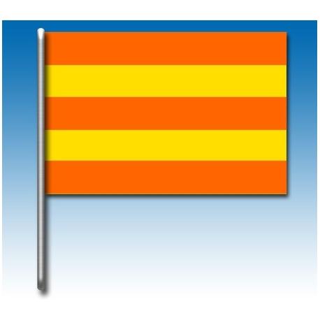 Flagge gelbe und rote Streifen, MONDOKART, Fahnen