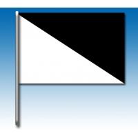 Weiß und Schwarz Flagge
