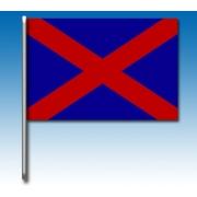 Drapeau bleu avec une croix rouge, MONDOKART, kart, go kart