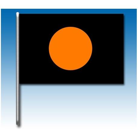 Schwarze Flagge mit orange Kreis, MONDOKART, kart, go kart