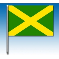 Drapeau vert avec croix jaune