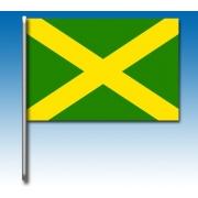 Green flag with yellow cross, MONDOKART, Flags