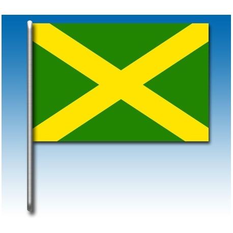 Drapeau vert avec croix jaune, MONDOKART, Drapeaux