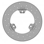 Brake Disk 180x17.5mm Self-Ventilated Parolin, mondokart, kart