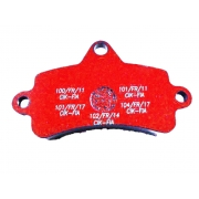Brake pad Top Kart Mini - Baby RED, mondokart, kart, kart