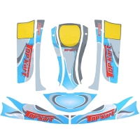 Designkit Bodyworks Aufkleber Top Kart Flash Speedy 125cc KF KZ