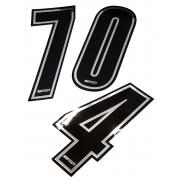 Numero de course adhesif RACING ARGENT TOPKART, MONDOKART