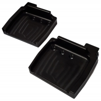 Couple footrest TOP-KART anodized with fitting pedals M8