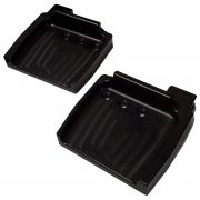 Couple footrest TOPKART anodized with fitting pedals M8