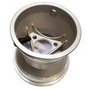 Cerchio 125mm Alluminio (3 Fori) Topkart SILVER -
