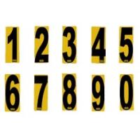 Numeri adesivi sfondo giallo