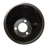 Cerchio Posteriore 146 mm Alluminio NERO