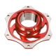 Sprocket Carrier Holder 50mm anodized aluminum, mondokart