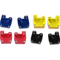Couple footrest anodized with fitting pedals M8 Wildkart