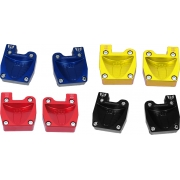 Couple footrest anodized with fitting pedals M8, mondokart